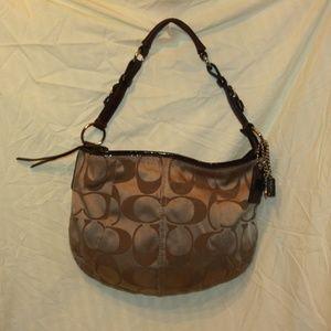 Coach 12675 brown Soho Sateen Handbag